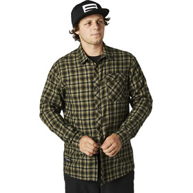 Fox Reeves Woven LS Shirt Men, olive green